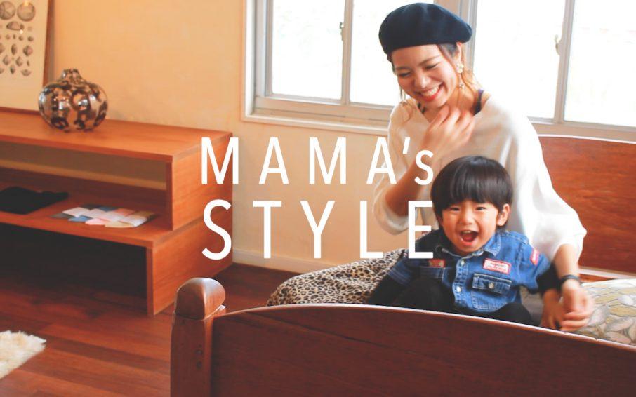笑顔のママと男の子