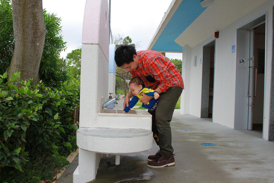 浦添大公園の手洗い場