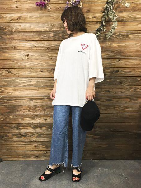 &modeのTシャツ着まわしコーデ