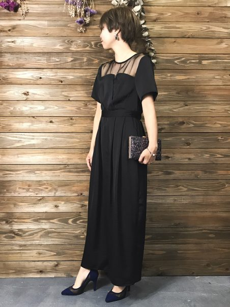 &modeのブラックドレス