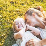 笑顔のママと娘