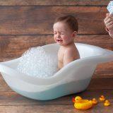 お風呂嫌いな赤ちゃん